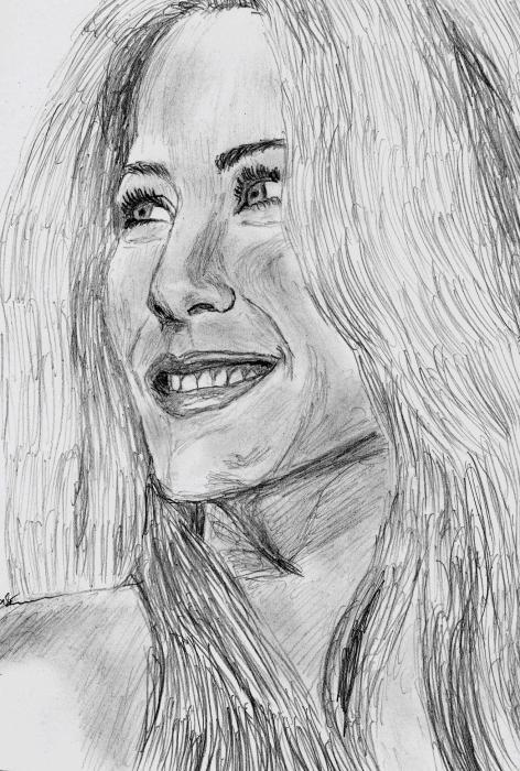 Jennifer Aniston by sunflower